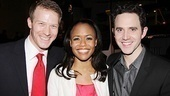 After hoofing it up on her Anything Goes opening night, Nikki Renee Daniels celebrates with husband Jeff Kready and his one-time Billy Elliot co-star, Santino Fontana (who is now appearing in the Roundabout's The Importance of Being Earnest).
