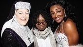 Victoria Clark, Whoopi Goldberg and Patina Miller beam after a truly spectacular opening night performance.
