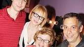 Jim Parsons, Ellen Barkin and Joe Mantello pose for a picture for the one and only Dr. Ruth Westheimer!