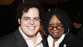 Book of Mormon funnyman Josh Gad poses with fellow comedian and Sister Act producer Whoopi Goldberg.