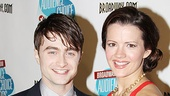 How to Succeed's Daniel Radcliffe and Rose Hemingway have their fingers crossed for the big night.