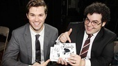 Andrew Rannells and Josh Gad are marching out the door...and coming to your music listening device courtesy of The Book of Mormon original cast recording.