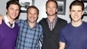 Harris and his partner David Burtka are both stage vets and theater lovers, and they jumped at a chance for a photo with these two triple-threats. Catch them in person at the Neil Simon Theatre!