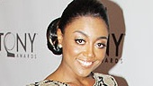 Sister Act headliner Patina Miller in Naeem Khan dress, Givenchy shoes and Judith Ripka jewelry.