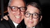 Did Scott Wittman and Matthew Broderick shop for their specs in the same store? The Catch Me If You Can lyricist throws an arm around the Tony winner, who presented How to Succeed's performance.