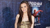 Jennifer Damiano shows off her gorgeous  Reem Acra opening night dress.