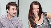 How to Succeed Stars at Lord &amp; Taylor  Daniel Radcliffe  Rose Hemingway  John Larroquette (lever)