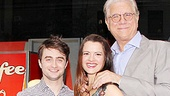 How to Succeed Stars at Lord &amp; Taylor  Daniel Radcliffe  Rose Hemingway  John Larroquette (window)