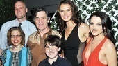 Family portrait! Jackie Hoffman, Zachary James, Roger Rees, Adam Riegler, Brooke Shields and Rachel Potter come together for a group shot. Be sure to visit The Addams Family at the Lunt-Fontanne Theatre!