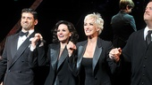 Chicagos leading ladies Kara DioGuardi and Amra-Faye Wright get sandwiched by their leading men Tony Yazbeck and Chris Sullivan.