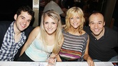 Rent's Adam Chanler-Berat and Annaleigh Ashford, Mamma Mia's Lisa Brescia and Follies' Danny Burstein come together for a group photo.