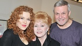 For Bernadette Peters and Ron Raines, there's no better way to top off a Saturday night performance than with a visit from a legend like Debbie Reynolds.