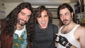 Club owner Dennis (Adam Dannheiser) and narrator Lonny (Mitch Jarvis) welcome Boneta to Broadway, Rock of Ages style.