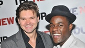 Elated co-stars Hunter Foster and Vladimir Versailles share an opening night snapshot.