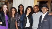 Keys joins stars Rosie Benton, Tracie Thoms, Condola Rashad, Dul Hill and Ruben Santiago-Hudson before getting down to business. 