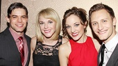 So much love! Not only are Jeremy Jordan and Laura Osnes Bonnie & Clyde co-stars, Osnes and Jordan's fiancée Ashley Spencer appeared on TV's Grease: You're The One That I Want! together.