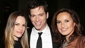 Hilary Swank (who starred with Connick in P.S. I Love You) and Law & Order:SVU's Mariska Hargitay strike a pose with the man of the hour, Harry Connick Jr.