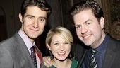 Drew Gehling celebrates a successful opening night with his Broadway vet wife, Sara Jean Ford, and Broadway.com editor-in-chief Paul Wontorek.