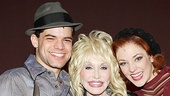 Dolly Parton was simply blown away by title stars Jeremy Jordan and Laura Osnes...