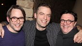 Other Desert Cities newcomer Justin Kirk is all smiles with Broadway-bound guest Matthew Broderick (Nice Work If You Can Get It) and Nathan Lane (who co-starred with Kirk in Love! Valour! Compassion!).