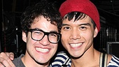 Speaking of castmates, Darren Criss is delighted to be reunited with Telly Leung, who has played a member of the Warblers on Glee.