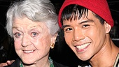 Telly Leung, who usually plays a medley of Stephen Schwartz songs during intermission to signal the start of Act Two, surprised his guest with selections from Lansbury shows like Sweeney Todd, Mame and Gypsy. 