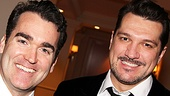 Tony nominee and Smash star Brian dArcy James shows some brotherly love to fellow performer and Tony Award winner Paulo Szot.