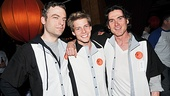 In their matching shirts, Justin Kirk, Hunter Parrish and Billy Crudup are the definition of Broadway bros. What a night of bowling!