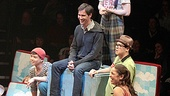 The cast of Godspell welcomes Eric McCormack to the best seat in the house.