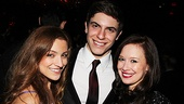 What love triangle?! Christy Altomare, Derek Klena and Molly Ranson are thrilled to celebrate the opening of Carrie.