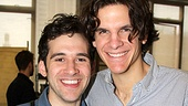 Co-director Alex Timbers poses with Peter and the Starcatcher's leading man Adam Chanler-Berat.