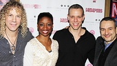 Memphis composer/lyricist David Bryan, stars Montego Glover and Adam Pascal and scribe Joe DiPietro look fab on their big night! 