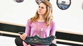 Peter and the Starcatcher Rehearsal  Celia Keenan-Bolger on the treasure chest