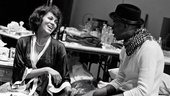 Nicole Ari Parker and Wood Harris light up the rehearsal room.