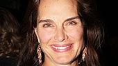 Brooke Shields, who shared the stage with Heidi Blickenstaff in The Addams Family, shows her support on opening night.