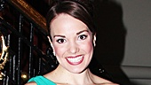Newsies star Kara Lindsay, who plays Katherine, shows off her gorgeous opening night ensemble.