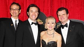 The cast of End of the Rainbow (Jay Russell, Tom Pelphrey, Tracie Bennett and Michael Cumpsty) are dressed to the nines for their big party at the Plaza Hotel.