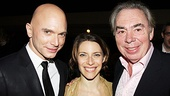 Michael Cerveris and Elena Roger happily pose with composer Andrew Lloyd Webber.