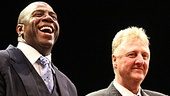 After an enlightening performance of Magic/Bird, Magic Johnson and Larry Bird thank the audience for watching their life story unfold onstage.