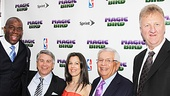 Magic.Bird Opening Night  Magic Johnson  Tony Ponturo  Fran Kirmser  David Stern  Larry Bird