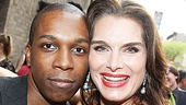 Leslie Odom Jr. and Brooke Shields share a connection: She starred in Leap of Faith at Los Angeles' Ahmanson Theater, and he stars in the Broadway production at the St. James Theatre.
