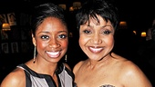 Montego Glover congratulates Brenda Pressley on her Broadway opening and fantastic performance.