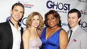 Richard Fleeshman, Caissie Levy, DaVine Joy Randolph and Bryce Pinkham get together for a glowing Ghost portrait. Welcome to Broadway!