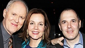 The Columnist stars John Lithgow and Margaret Colin celebrate with their playwright, David Auburn.