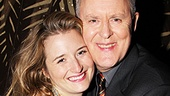 John Lithgow gives a warm squeeze to his stage daughter Grace Gummer.