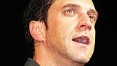 A wet and wonderful Raúl Esparza takes in the overwhelming applause at the St. James Theatre.