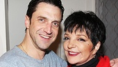 After an amazing performance, Raúl Esparza gets a thumbs up backstage from the one and only Liza Minnelli.