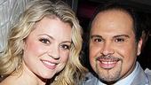 Kendra Kassebaum is all smiles with Leap of Faith co-star Eliseo Roman.   