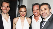 Leap of Faith star Jessica Phillips enjoys the party with James Van Der Beek, How to Succeed's Michael Park and Marc Kudisch.