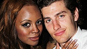 Krystal Joy Brown enjoys the fete with her handsome beau at the Copacabana shindig.